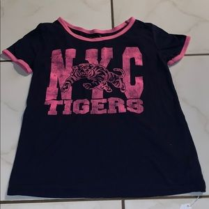 $4 Navy Blue and Pink Shirt